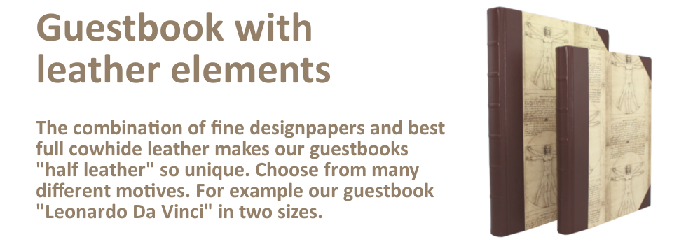 Half Leather Guestbooks