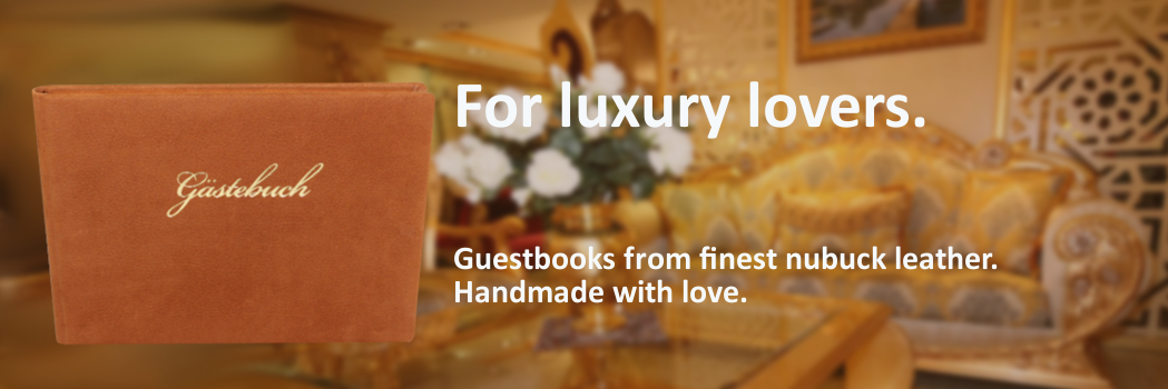 Nubuk Leather Guestbooks